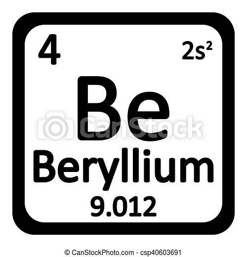 Periodic table element beryllium icon periodic table eps vectors periodic table element beryllium icon csp40603691 urtaz Image collections
