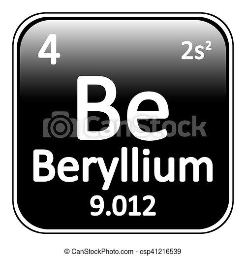 Periodic table element beryllium icon periodic table vectors periodic table element beryllium icon vector urtaz Gallery