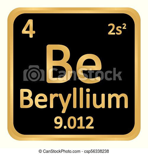 Periodic table element beryllium icon periodic table vectors periodic table element beryllium icon csp56338238 urtaz Image collections