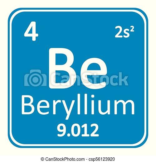 Periodic table element beryllium icon periodic table element periodic table element beryllium icon csp56123920 urtaz Image collections