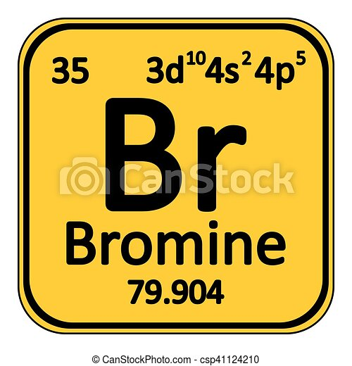Periodic Table Element Bromine Icon.   Csp41124210