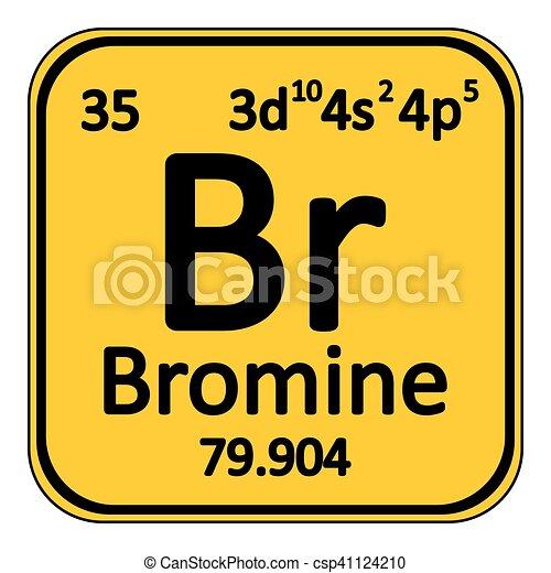 Periodic Table Element Bromine Icon Periodic Table Element Bromine