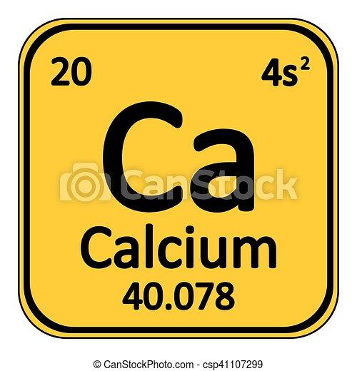 Periodic Table Element Calcium Icon Periodic Table Element Calcium