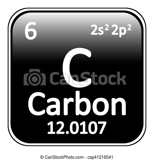 periodic table element carbon icon csp41216541 - Periodic Table Carbon