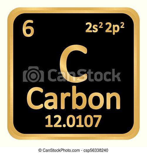 Periodic table element carbon icon periodic table element eps periodic table element carbon icon csp56338240 urtaz Image collections