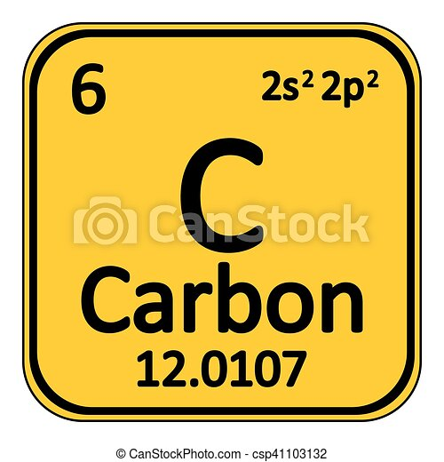 Periodic Table Element Carbon Icon Periodic Table Element Carbon