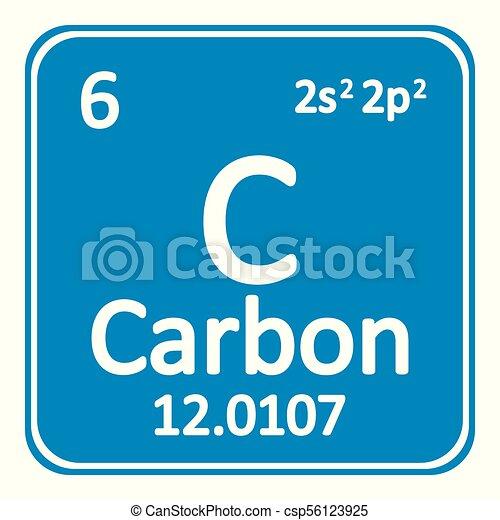 Periodic table element carbon icon periodic table element carbon periodic table element carbon icon csp56123925 urtaz Gallery
