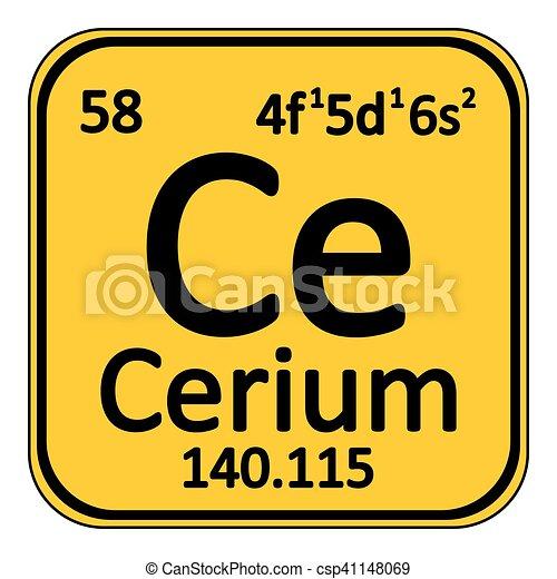 Periodic table element cerium icon periodic table element cerium periodic table element cerium icon csp41148069 urtaz Images