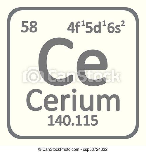 Periodic table element cerium icon periodic table element cerium periodic table element cerium icon csp58724332 urtaz Images