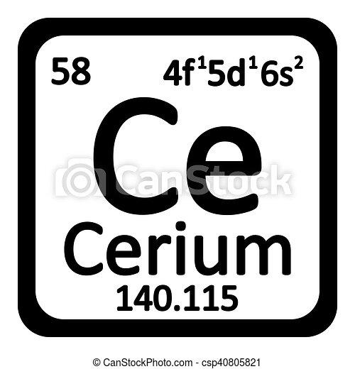 Periodic table element cerium icon periodic table element cerium periodic table element cerium icon csp40805821 urtaz Images