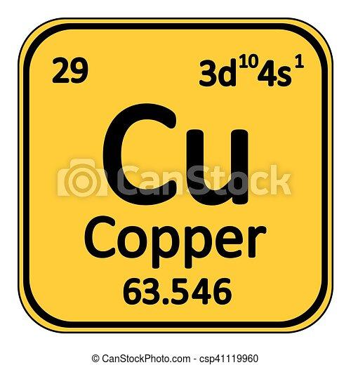 periodic table element copper icon csp41119960 - Periodic Table Copper