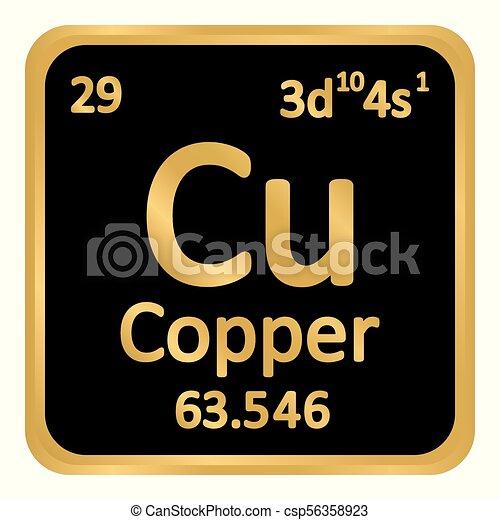 Periodic table element copper icon periodic table element copper periodic table element copper icon csp56358923 urtaz Choice Image