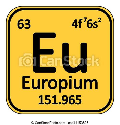 Periodic Table Element Europium Icon Periodic Table Element