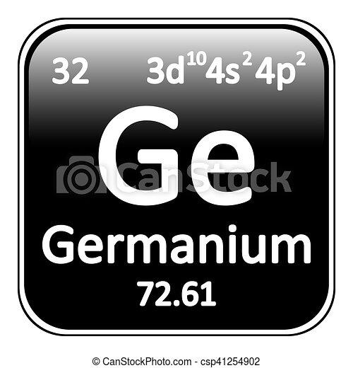 Periodic Table Element Germanium Icon Periodic Table Element