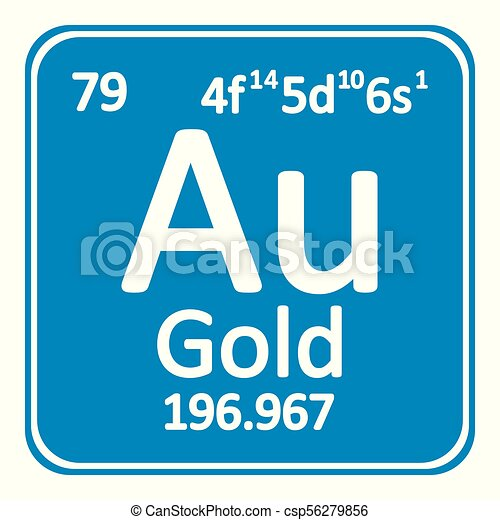 Periodic Table Element Gold Icon Periodic Table Element Gold Icon