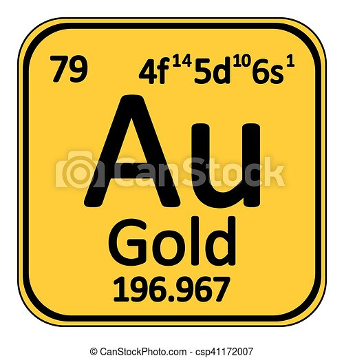 Periodic Table Element Gold Icon.   Csp41172007