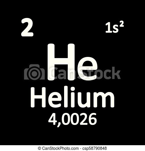 Periodic Table Element Helium Icon Periodic Table Element Helium