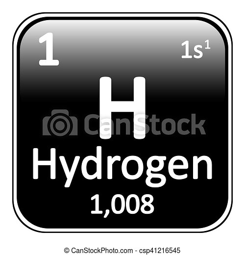 Periodic table element hydrogen icon periodic table element eps periodic table element hydrogen icon csp41216545 urtaz Gallery