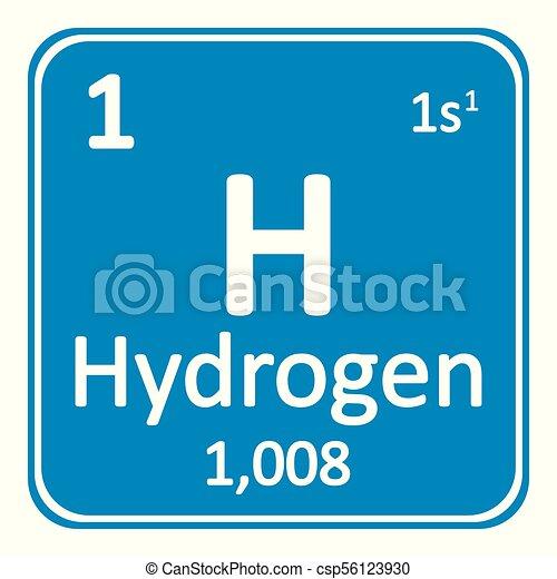Periodic table element hydrogen icon periodic table element vector periodic table element hydrogen icon csp56123930 urtaz Image collections