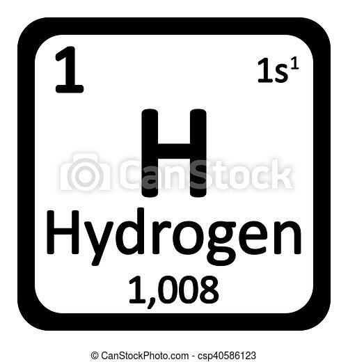 Periodic table element hydrogen icon periodic table element periodic table element hydrogen icon csp40586123 urtaz Gallery