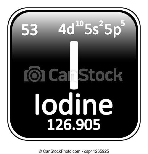 Periodic table element iodine icon periodic table element vector periodic table element iodine icon csp41265925 urtaz Choice Image