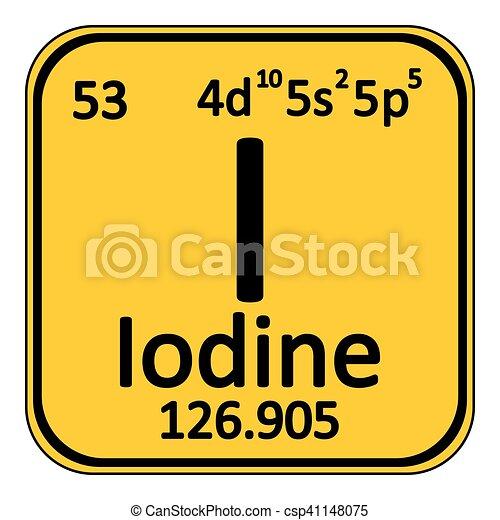 Periodic table element iodine icon periodic table element iodine periodic table element iodine icon csp41148075 urtaz Choice Image
