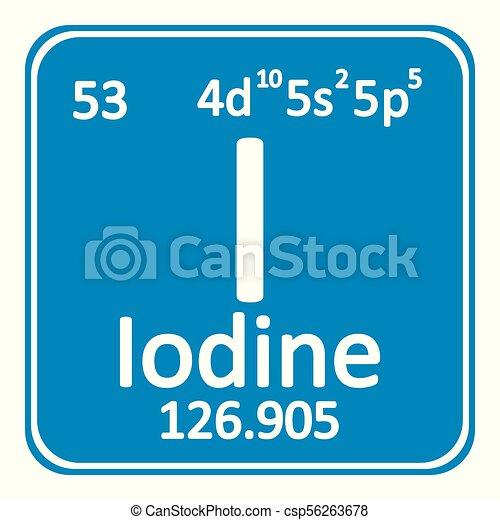 Periodic table element iodine icon periodic table element iodine periodic table element iodine icon csp56263678 urtaz Choice Image