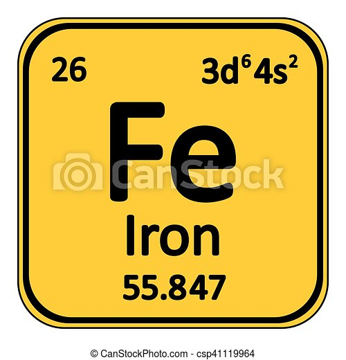 Periodic Table Element Iron Icon.   Csp41119964