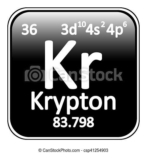 Periodic table element krypton icon periodic table element krypton periodic table element krypton icon csp41254903 urtaz Choice Image