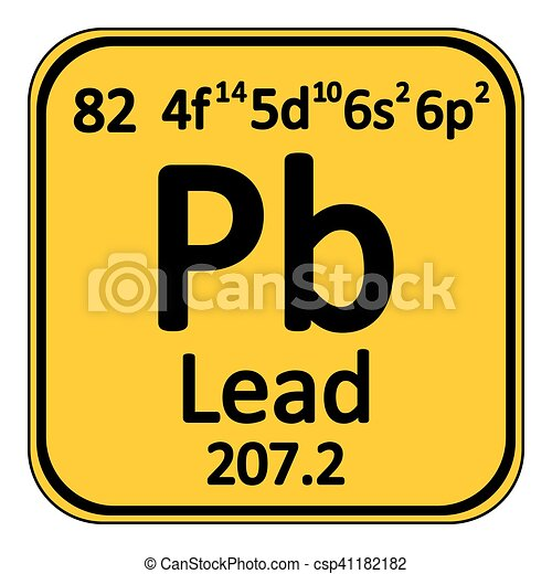 Periodic Table Element Lead Icon Periodic Table Element Lead Icon
