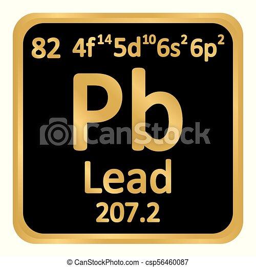 Periodic table element lead icon periodic table element lead icon periodic table element lead icon csp56460087 urtaz Choice Image