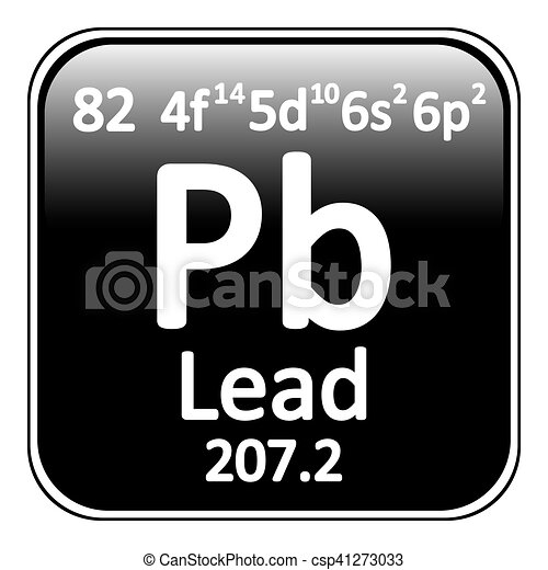 Periodic Table Element Lead Icon Periodic Table Element Lead Icon