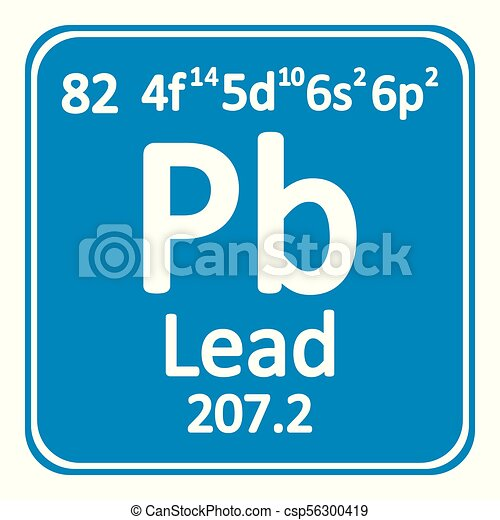 Periodic table element lead icon periodic table element vector periodic table element lead icon csp56300419 urtaz Gallery
