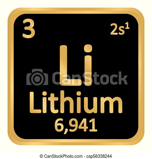 Periodic Table Element Lithium Icon Periodic Table Element Eps