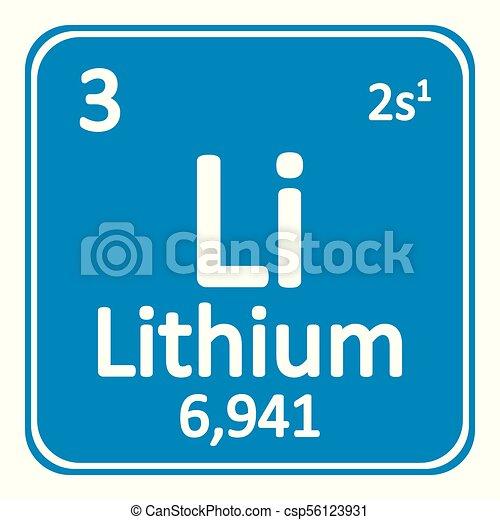 Periodic Table Element Lithium Icon Periodic Table Element