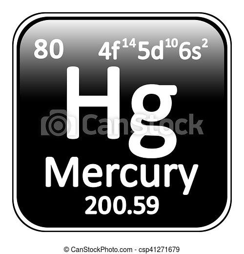 Periodic table element mercury icon periodic table element periodic table element mercury icon vector urtaz Gallery