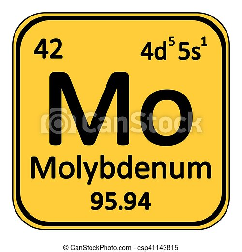 Periodic Table Element Molybdenum Icon.   Csp41143815