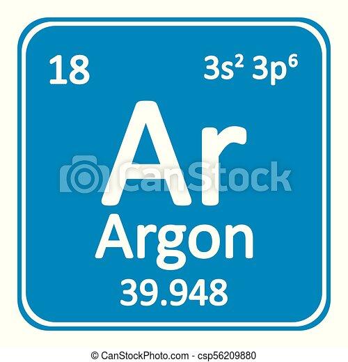 Periodic Table Element Neon Icon Periodic Table Element Neon Icon