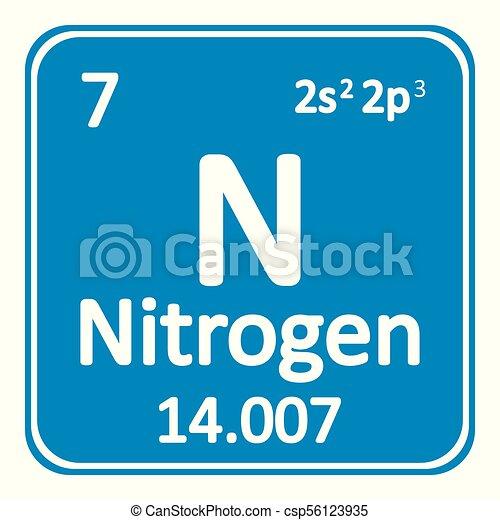 Periodic Table Element Nitrogen Icon Periodic Table Element