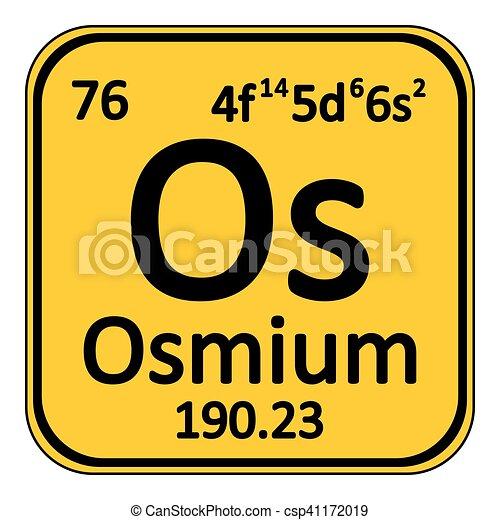 Periodic table element osmium icon periodic table element osmium periodic table element osmium icon csp41172019 urtaz Choice Image