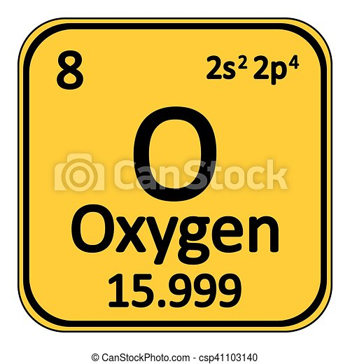 Periodic table element oxygen icon periodic table element oxygen periodic table element oxygen icon csp41103140 urtaz Images