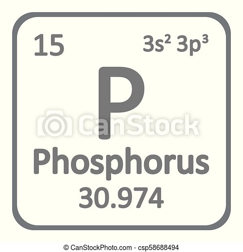 Periodic Table Element Phosphorus Icon Periodic Table Element