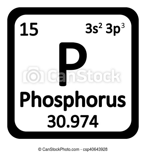Periodic table element phosphorus icon periodic table element periodic table element phosphorus icon csp40643928 urtaz Images