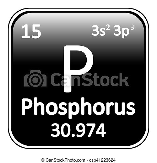 Periodic Table Element Phosphorus Icon.   Csp41223624
