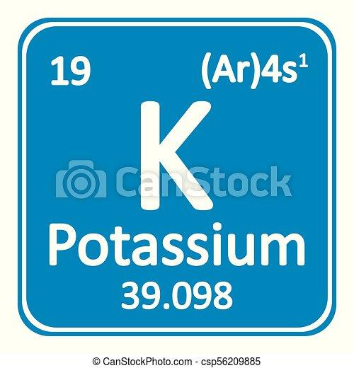 Periodic table element potassium icon periodic table vector periodic table element potassium icon csp56209885 urtaz Gallery