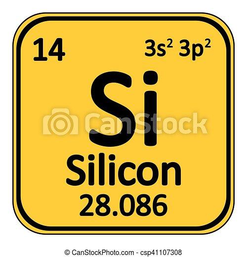 Periodic Table Element Silicon Icon Periodic Table Element Silicon