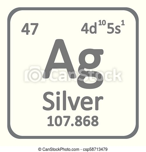 Periodic Table Element Silver Icon Periodic Table Element Silver