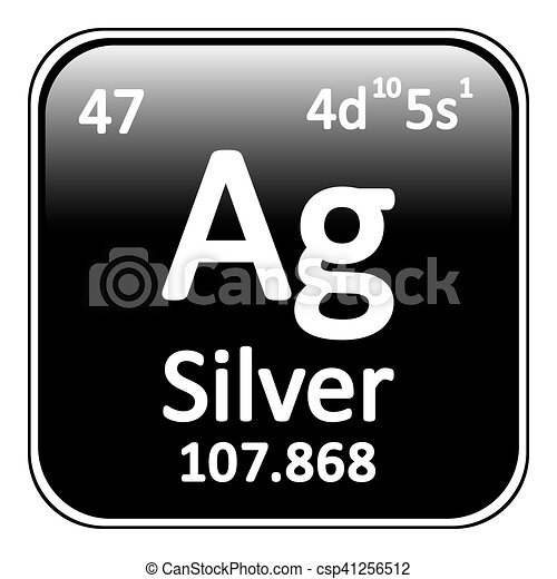 Periodic table element silver icon periodic table element silver periodic table element silver icon csp41256512 urtaz Image collections
