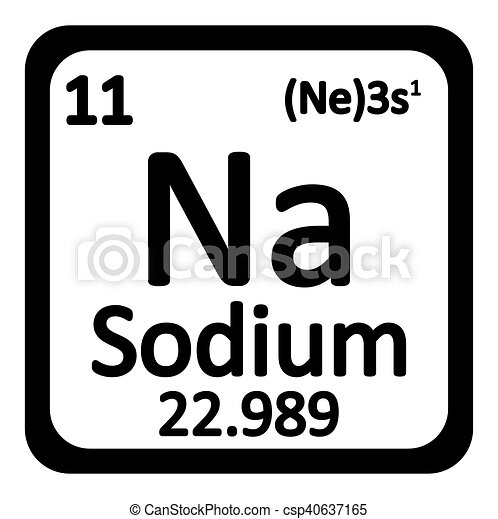 Periodic table element sodium icon periodic table element sodium periodic table element sodium icon csp40637165 urtaz Image collections