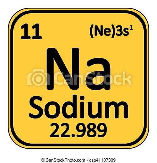 Periodic table element sodium icon periodic table element sodium periodic table element sodium icon csp41107309 urtaz Choice Image